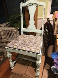 Vintage Distressed light Blue Chair  Bowie, 20716