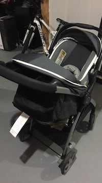 Baby's black and gray travel system. Complete Set. Pet & Smoke free Family, used only 3 months.  Edmonton, T5A 4J7