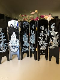 """Small Lacquer Folding Screen - 10""""x 18"""" high  West Palm Beach, 33417"""