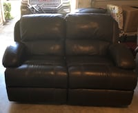 black leather 2-seat sofa Tomball, 77377