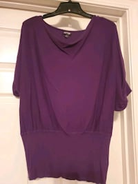 Ladies Purple Blouse size xl Roebuck, 29376