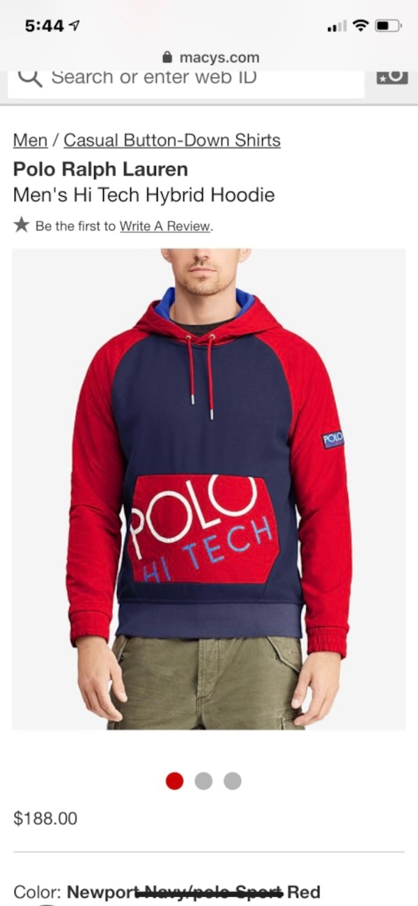High Ralph Polo Lauren Tech Hoodie Highbred wOP8n0XNk