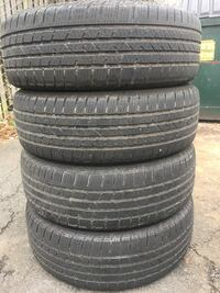 4 tires continental 225/65r17 life %70 $100 Leesburg, 20176