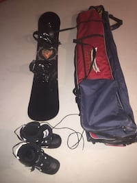 Snow board, bindings, boots and bag Hamilton, L9C 2C3