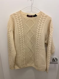 Traditional wool weave sweater S