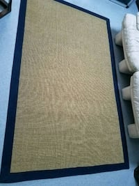 "Sisal rug with cotton  97"" x 60.5"" excellent condi San Jose, 95133"