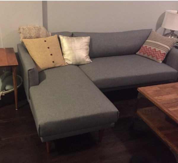 Modern Sectional Sofa (Left Chaise and Right Arm Facing Sofa)