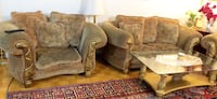 brown leather sofa chair with ottoman Toronto, M1L 3E8