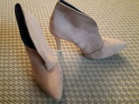 Nude suede stiletto shoes size 41