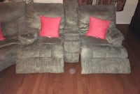 C SECTIONAL COUCH RECLINER