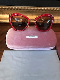 Miu Miu Red Glitter Sunglasses El Paso, 79912