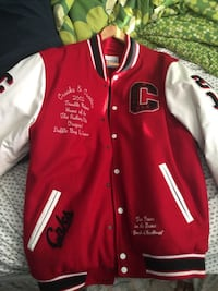 Red and white letterman jacket Brampton, L7A 0G6