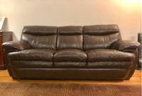 Comfy and Classy Brown 100% Leather Couch null