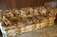 "Couch 90"" floral pattern"