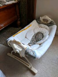 white and brown fabric cradle Algonquin
