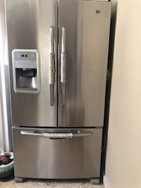 Maytag Stainless Steel Fridge French Door Refrigerator (25 Cu. Ft) Dearborn