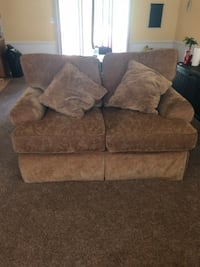 Brown suede 2-seat sofa North Prince George, 23860