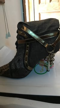 black-and-green leather open toe heels Rochester, 14621