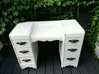 two white wooden 2-drawer nightstands Hamilton, L8K 2M3