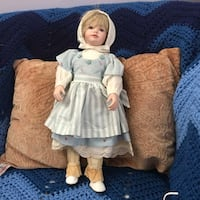 baby doll wearing white and blue dress Rockville, 20853