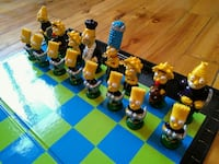 The Simpsons chess board game set 786 km