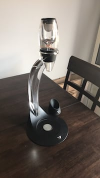 white and black glass water bong