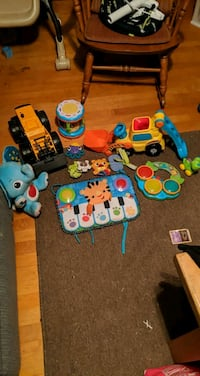 Baby toys, walker, Johnny jumper and baby buggy
