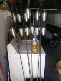 Wrought iron tiki torches with fuel