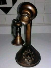 Bronze statue rotary style telephone  St. Louis, 63116