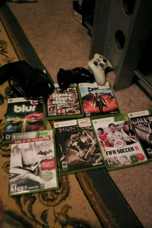 Game xbox 360 remote controller and games