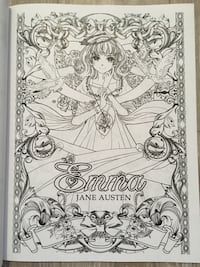 Jane Austen Manga Colouring book Toronto, M1T 1N7