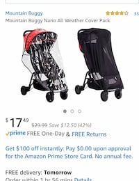 Pack of 2 (rain cover + mosquito mesh) for stroller Virginia Beach, 23456