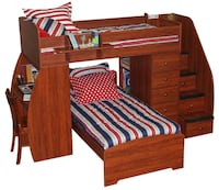 Brown wooden bed frame without mattress 1190 mi