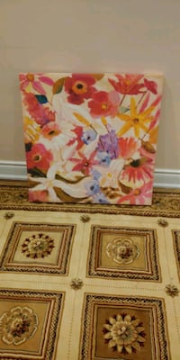 pink and white floral painting Grimsby, L3M 3W3