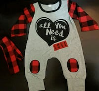 """""""All You Need Is Love"""" Romper (0-6 Months) Bradford West Gwillimbury, L3Z 2A5"""
