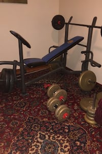 Workout bench and weights Mississauga, L4T 3R5