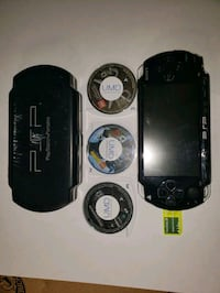 Black PSP 1000 with games