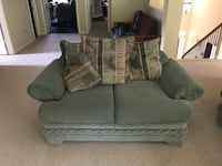gray fabric 2-seat sofa Fresno, 77545