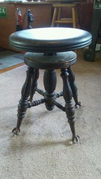 Vintage glass foot piano stool