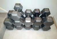 Set of hex dumbells Springfield