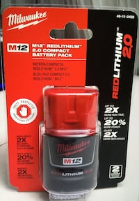 Milwaukee New Battery 12M Batería Nueva de 12 Voltios Each One $35 Cada Una $35 Los Angeles, 91324