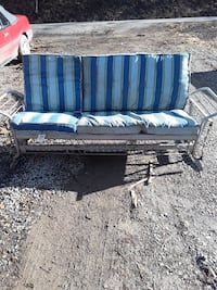 Vintage aluminum swing couch/ bed