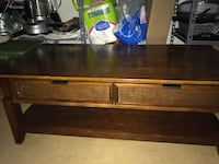 Coffee table & end table-brown wooden