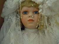 baby doll in white dress null