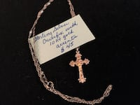 Sterling silver and /10kt gold crucifix necklace