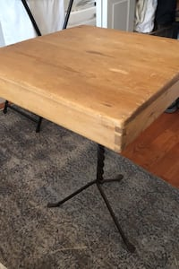 Wood/wrought iron end table  New York, 11231
