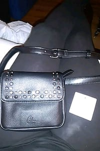 Celine Dion black around the waist small purse