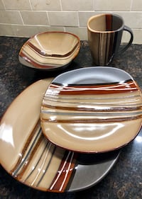 Modern 16 Piece Stoneware Dishes  Whitby, L1M 2L9