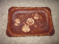 brown and red floral leather wallet Winnipeg