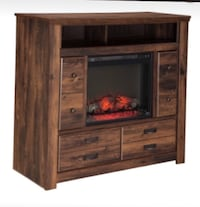 Heater fireplace tv stand